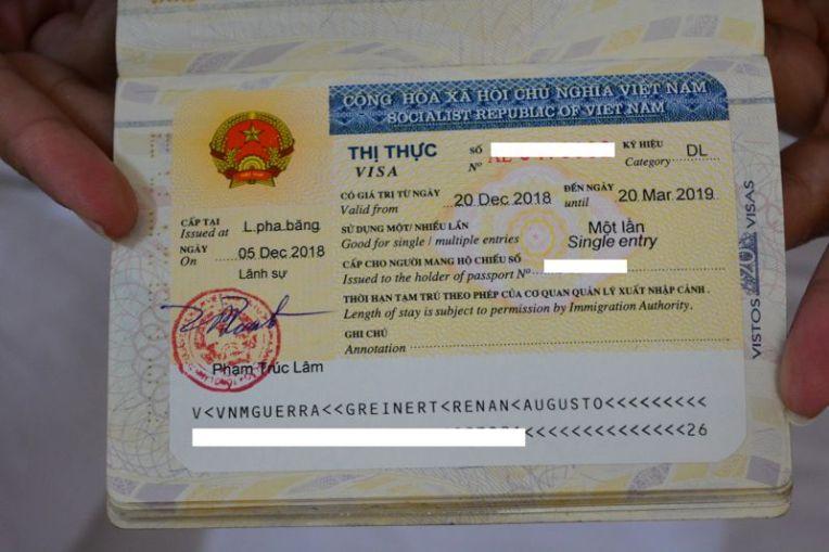 Visto do Vietnã