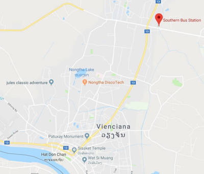 """Estação """"sul"""" em Vientiane"""