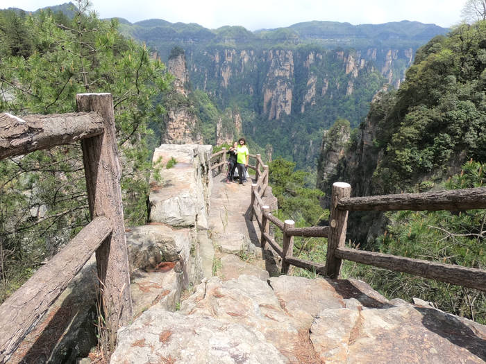 "Mirante ""Fairy Bridge"" em Zhanjiajie"