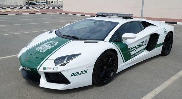 Top 10 carros de polícia mais caros do mundo - Lamborghini Aventador