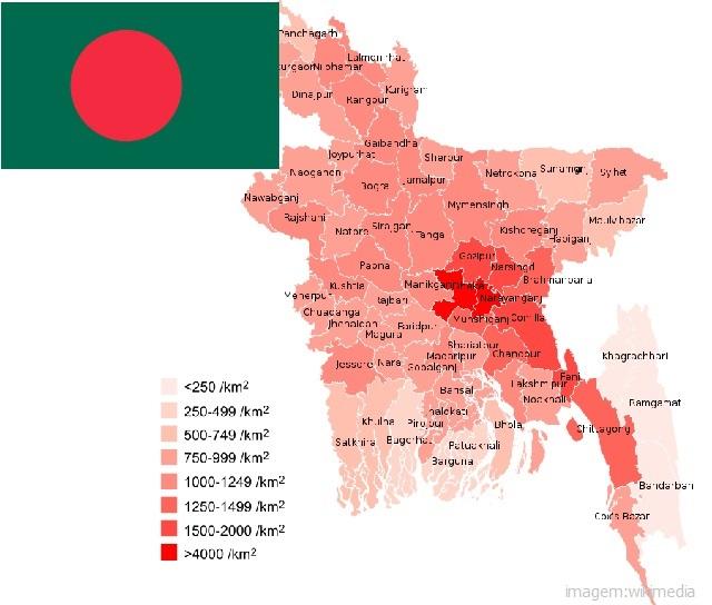 Top 10 países mais populosos do mundo - Bangladesh
