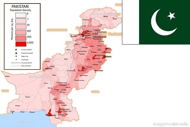 Top 10 países mais populosos do mundo - Paquistão