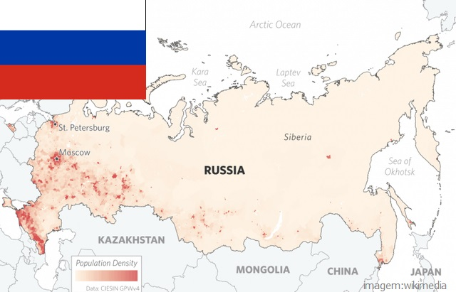 Top 10 países mais populosos do mundo - Rússia
