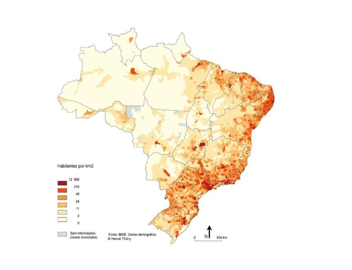 Top 10 maiores cidades do Brasil em população (2020)