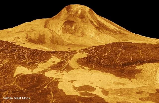 Existem mais de 1.600 vulcões observáveis em Vênus