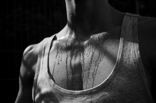 Produção intensa de calor no corpo humano