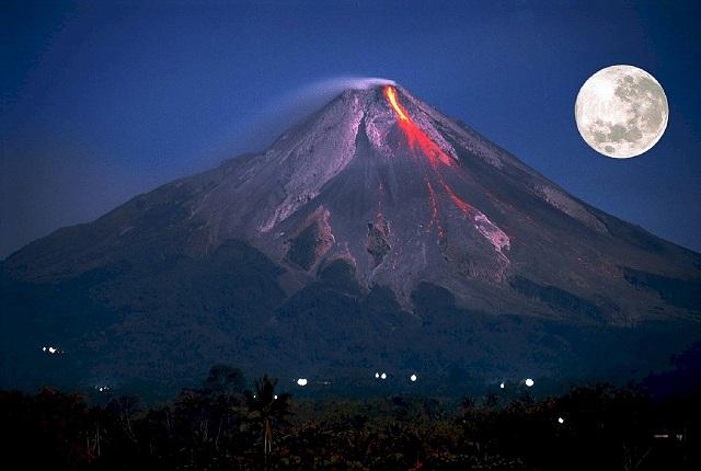 Praticamente, viemos de vulcões