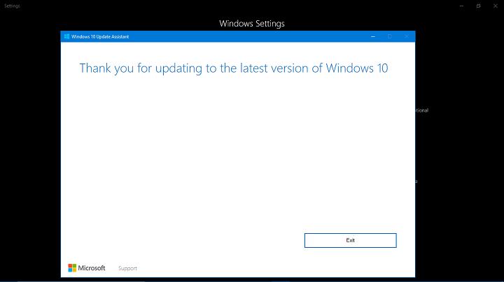 Исправлено: Мастер обновления Windows зависал на 99% установки.