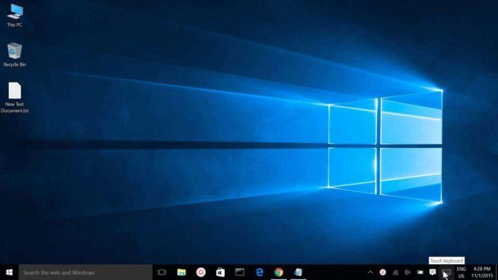 Как отобразить панель задач и экранную клавиатуру в Windows 10