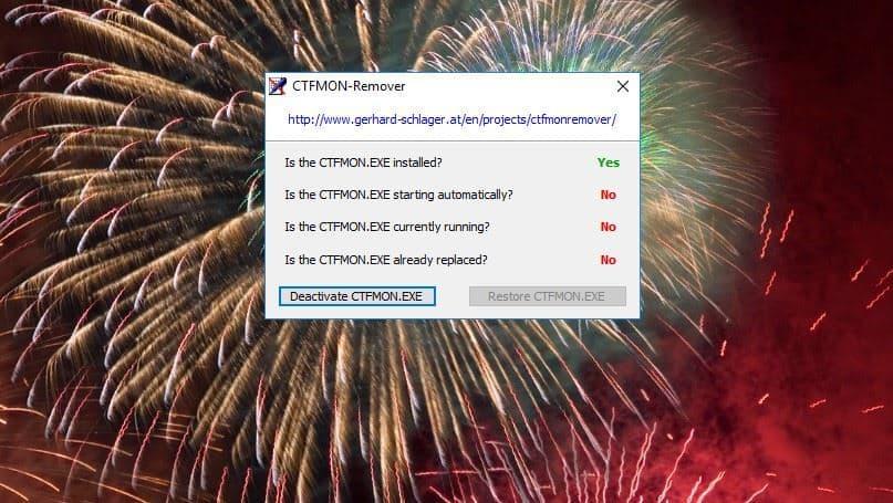 Как удалить ctfmon.exe с ПК