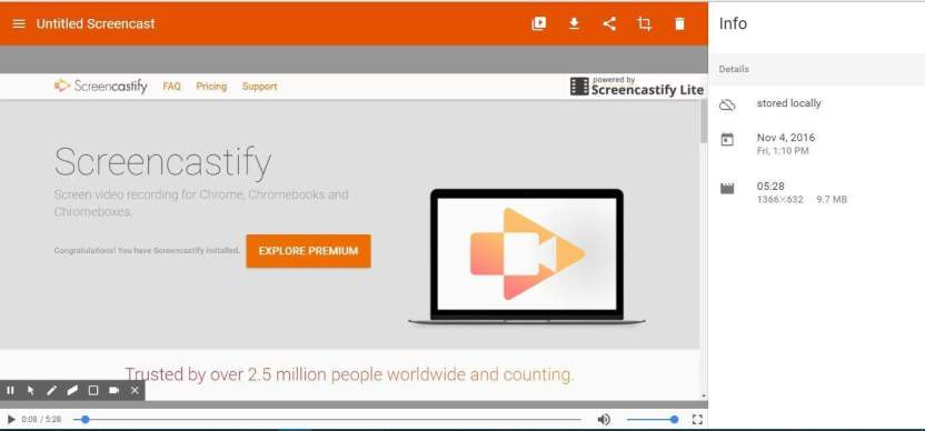 Записывайте видео в Chrome с помощью Screencastify Chrome Screen Recorder
