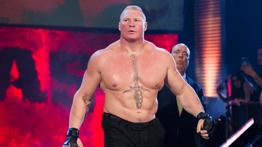Brock Lesnar con Paul Heyman