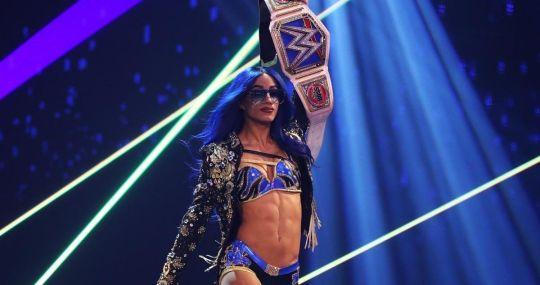 Sasha Banks como campeona