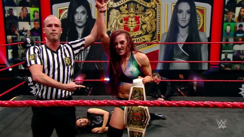 Kay Lee Ray tras el combate de NXT UK