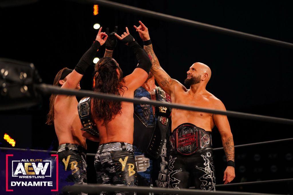 The Young Bucks y The Good Brothers tras el combate de AEW Dynamite