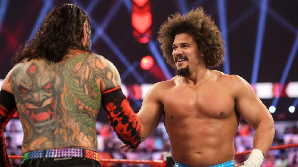 Carlito en su regreso a Raw