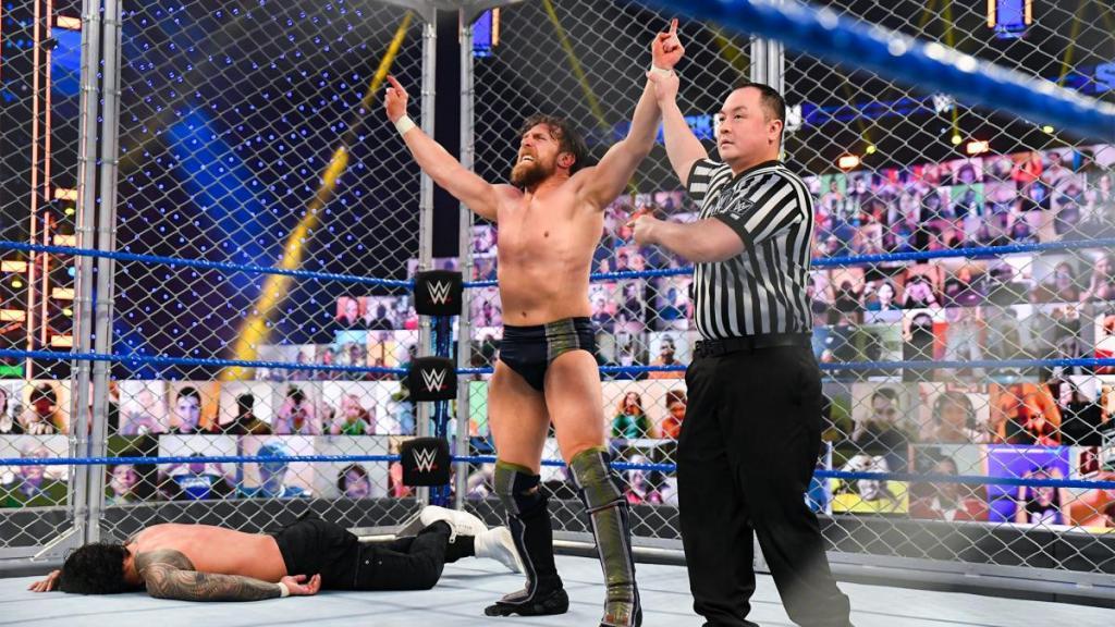 Daniel Bryan tras su victoria en SmackDown