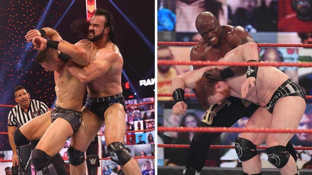 bobby lashley y Drew en Raw