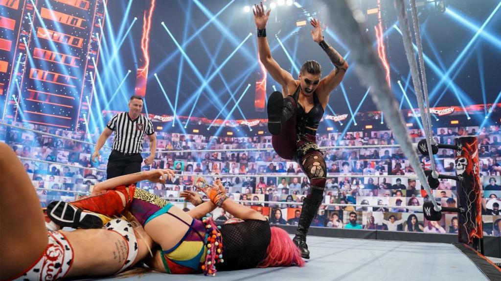 Rhea vs Charlotte vs Asuka