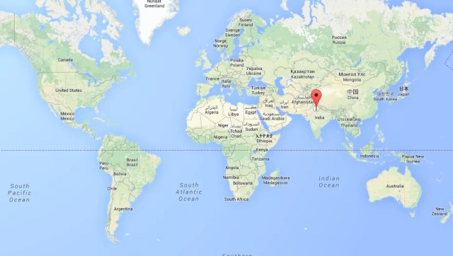 Mapa Mundo India