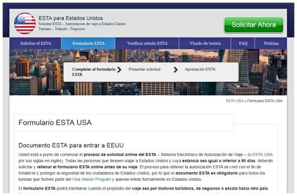 documentación Viajar a EEUU