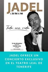 Jadel ofrece un concierto exclusivo en el Teatro Leal de Tenerife