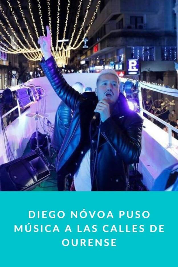 Diego Nóvoa puso música a las calles de Ourense