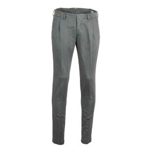 Incotex Chino Baumwolle/Leinen Grau Luxus