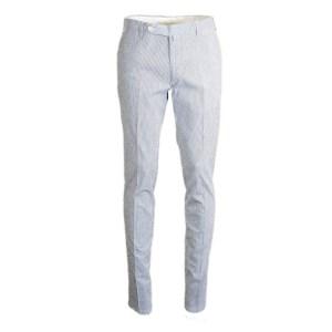 Rota Chino Herren Blau/Weiß gestreift Baumwollmix Luxus