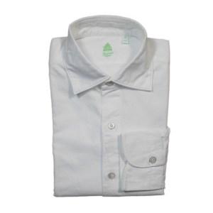Finamore Herren Hemd Weiß Baumwolle Luxus