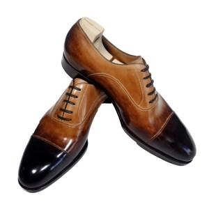 Saint Crispin`s Herren Schuhe Leder Braun Schnürer Luxus