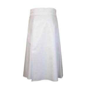 Jil Sander Navy Damen Rock Baumwolle Weiß