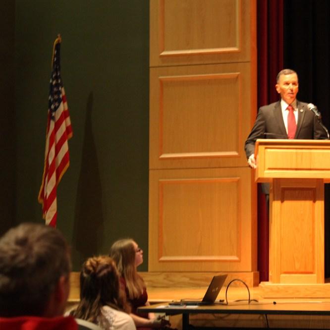 President Hendricks Speaks at Troy HS Veterans Day Assembly