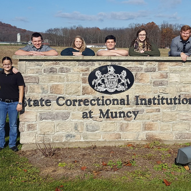 CJA Students tour Muncy State Correctional Institution