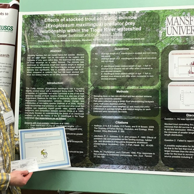 MU Fisheries Student Wins State Award for Research