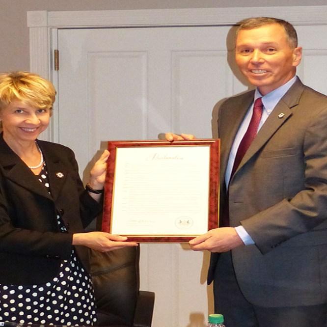 Trustees Honor President Hendricks