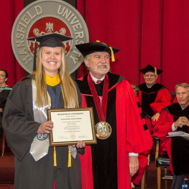 Olga Bilardi Named Mansfield University Outstanding Senior