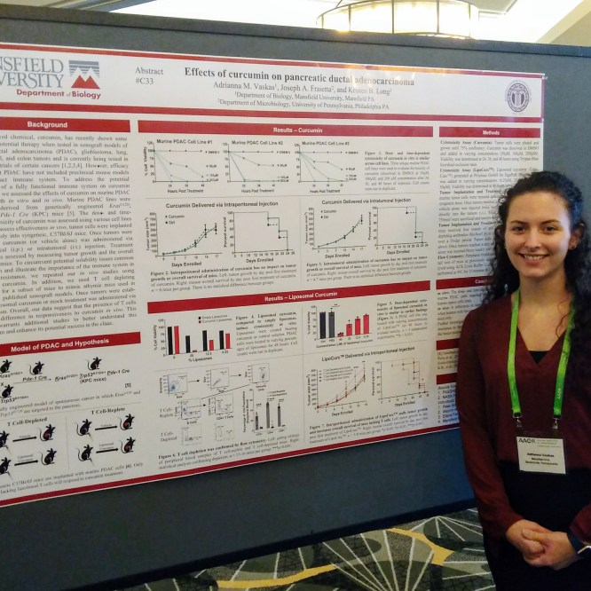 Mansfield University biology student and professor present research at national cancer conference