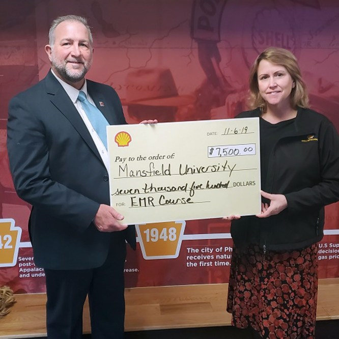 Mansfield University Public Safety Training Institute Secures $7,500 Grant from Shell Appalachia for EMR Course
