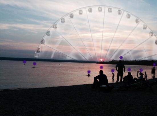 Munich Artists Manuela Illera -day 4 - Ferris Wheel