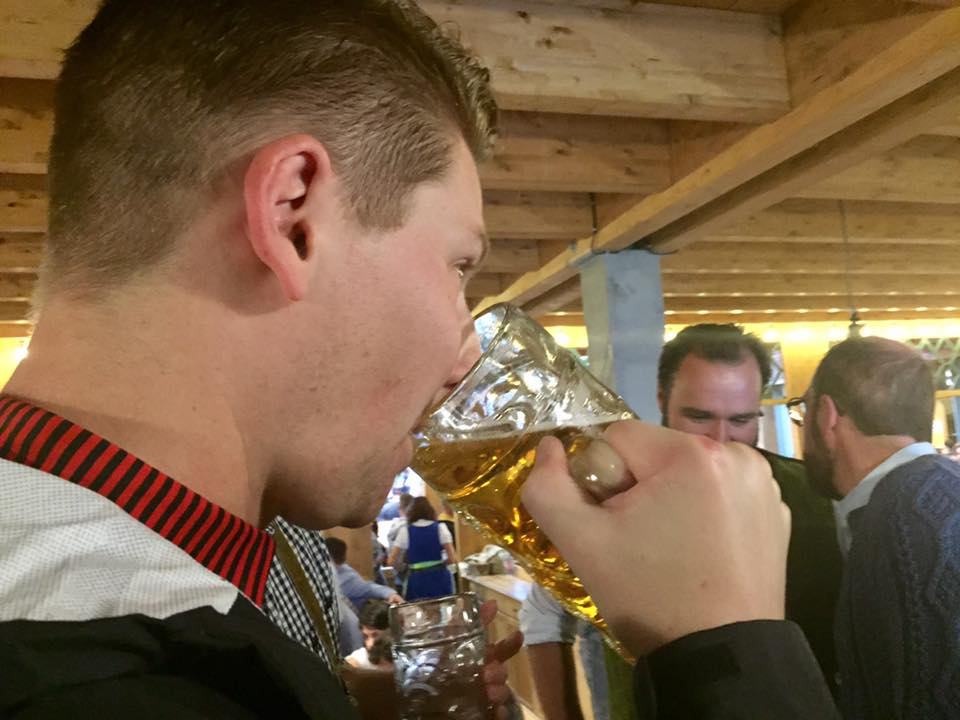 beerdrinking hacker Festzelt beer hall Oktoberfest