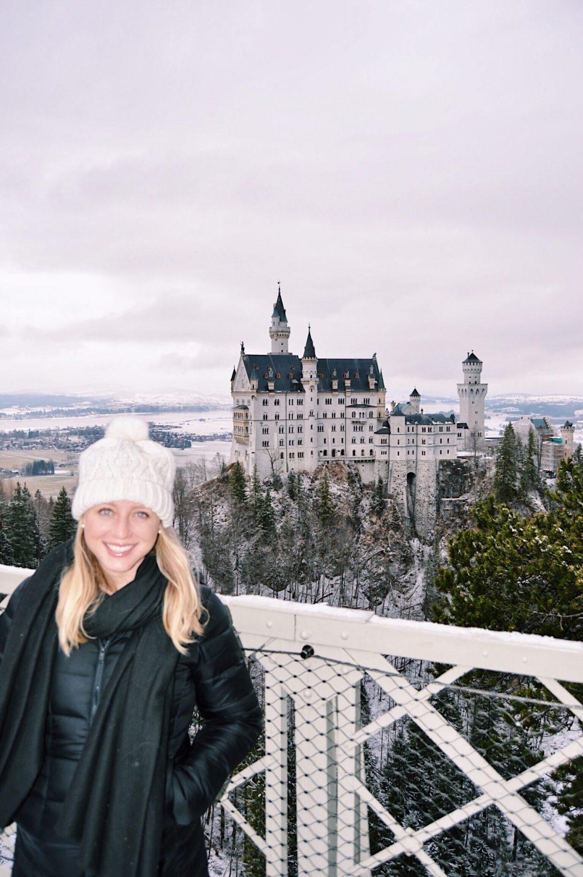 disney castle in germany in winter