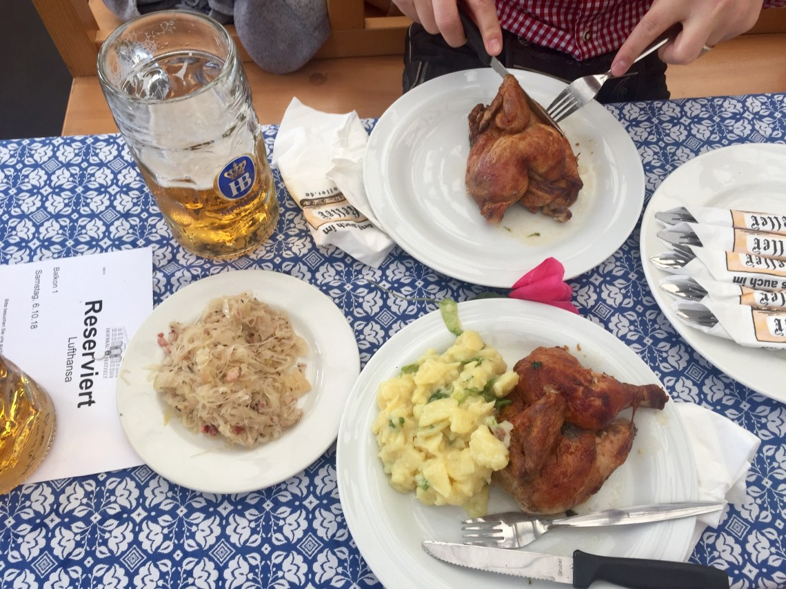 Roast chicken at Oktoberfest