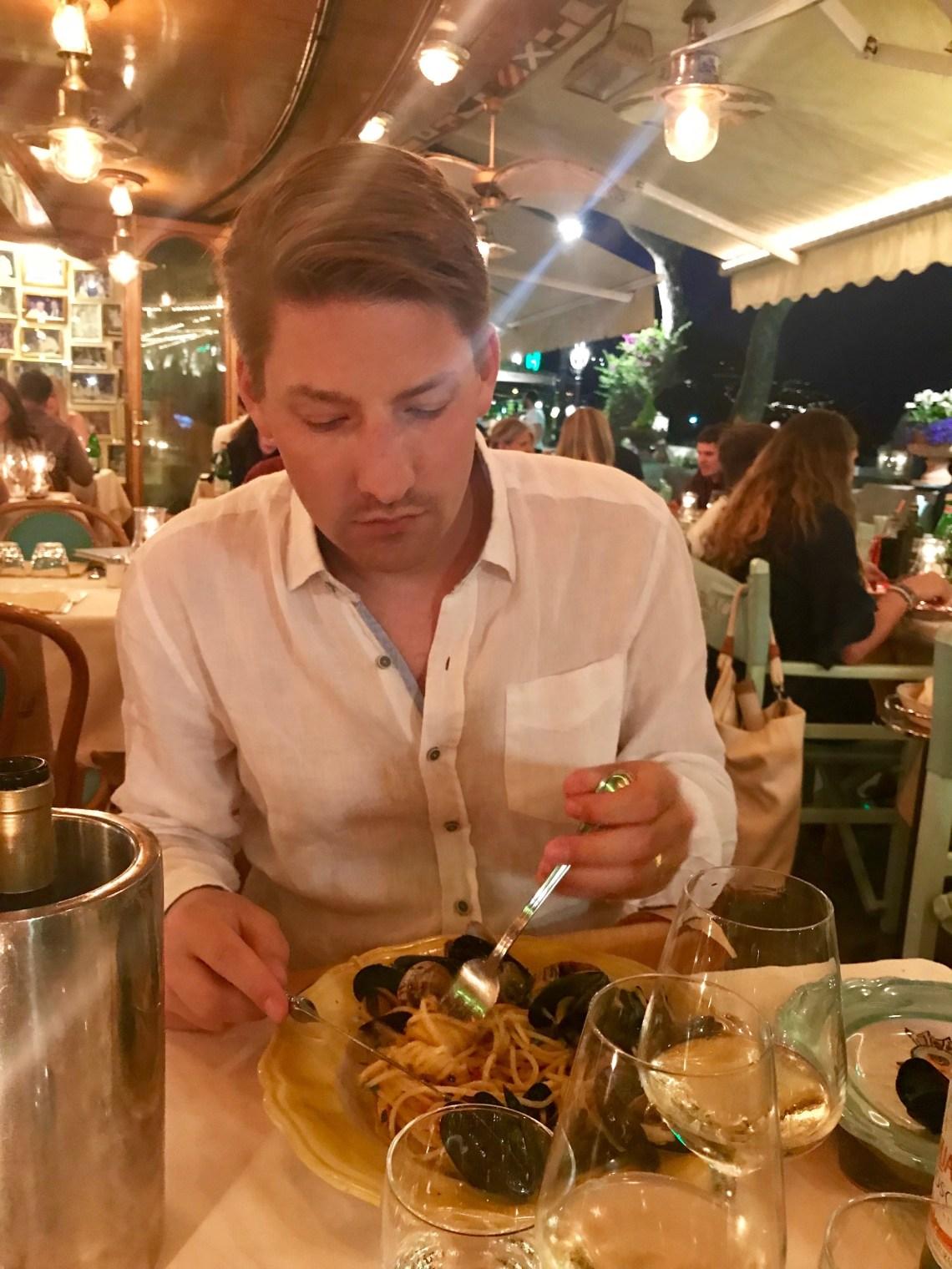 Dinner at Chez Black in Positano, Italy