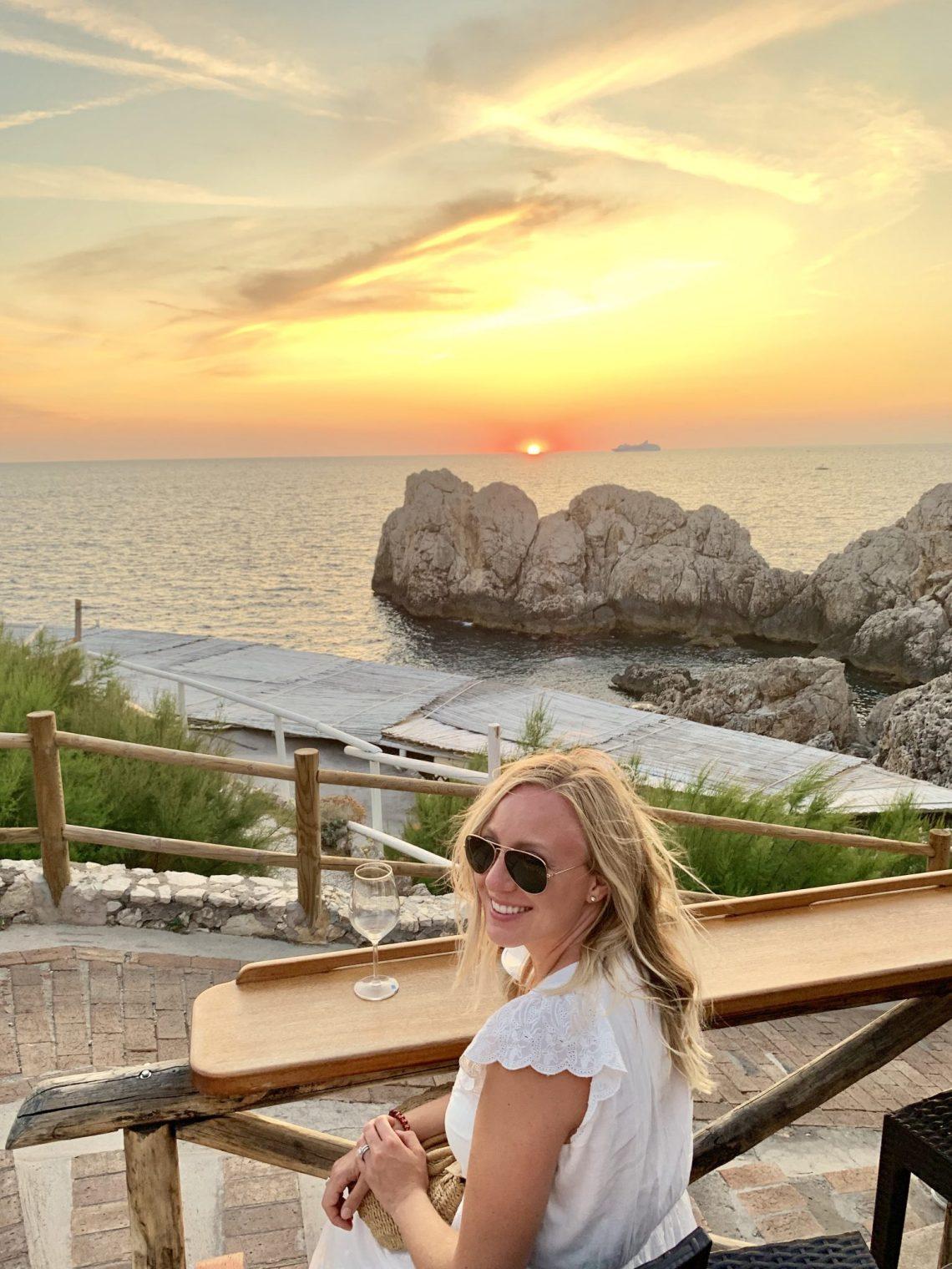 sunset Lido del Fare Capri italy