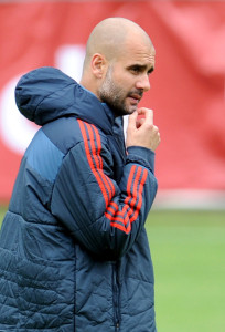Pep has a great deal riding on the re-match with Real Madrid -- photo: dpa