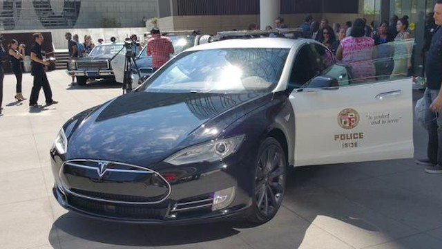 The TESLA Model S is also being used by the LAPD -- munichFOTO