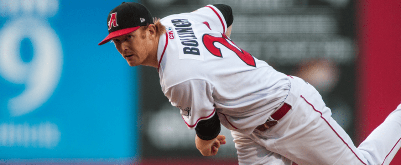 All-Star Bundesliga pitcher Ryan Bollinger of the Disciples will be piching