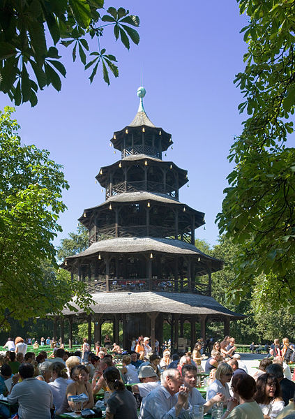 Chinese Tower in the English Garden -- munichFOTO