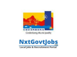 Cederberg Local Municipality vacancies 2021 | west coast Government jobs | Western Cape Municipality vacancies